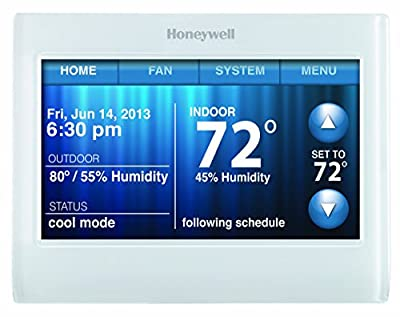 Honeywell TH9320WF5003 Wi-Fi 9000 Color Touch Screen Programmable Thermostat, White, 4 x 6""
