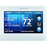 Honeywell TH9320WF5003 Wi-Fi 9000 Color Touch Screen Programmable Thermostat, 3.5 x 4.5 Inch, White, Requires C Wire""