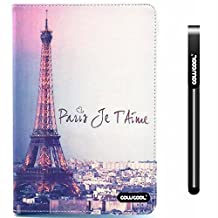 CowCool® iPad 5 Case, Apple Ipad Air Case, The Eiffel Tower Paris Je Taime PU Leather Hand Stitching Wallet Stand Kickstand Case for Ipad 5 (Style1)
