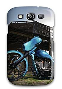 Galaxy S3 Harley-davidson Print High Quality Tpu Gel Frame Case Cover