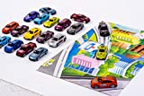 Car Gift Set - 20 Distinct Cars Gift Pack - Ideal as Toy Cars - Excellent Car Collection for Adults or Children Alike - Beautiful Die Cast Cars Made to 1:64 Scale - Unique Hobby