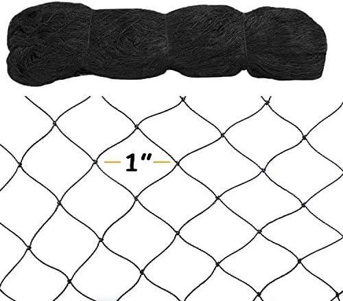 SE-BIRD 11 8.5 x 65 Ft Garden Bird Netting,1 Mesh Size Vegetable Plant Nettin, Black