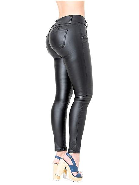 Amazon.com: Lowla 0719 Pantalones de piel sintética para ...