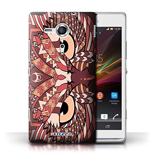 Coque de Stuff4 / Coque pour Sony Xperia SP/C5303 / Hibou-Rouge Design / Motif Animaux Aztec Collection