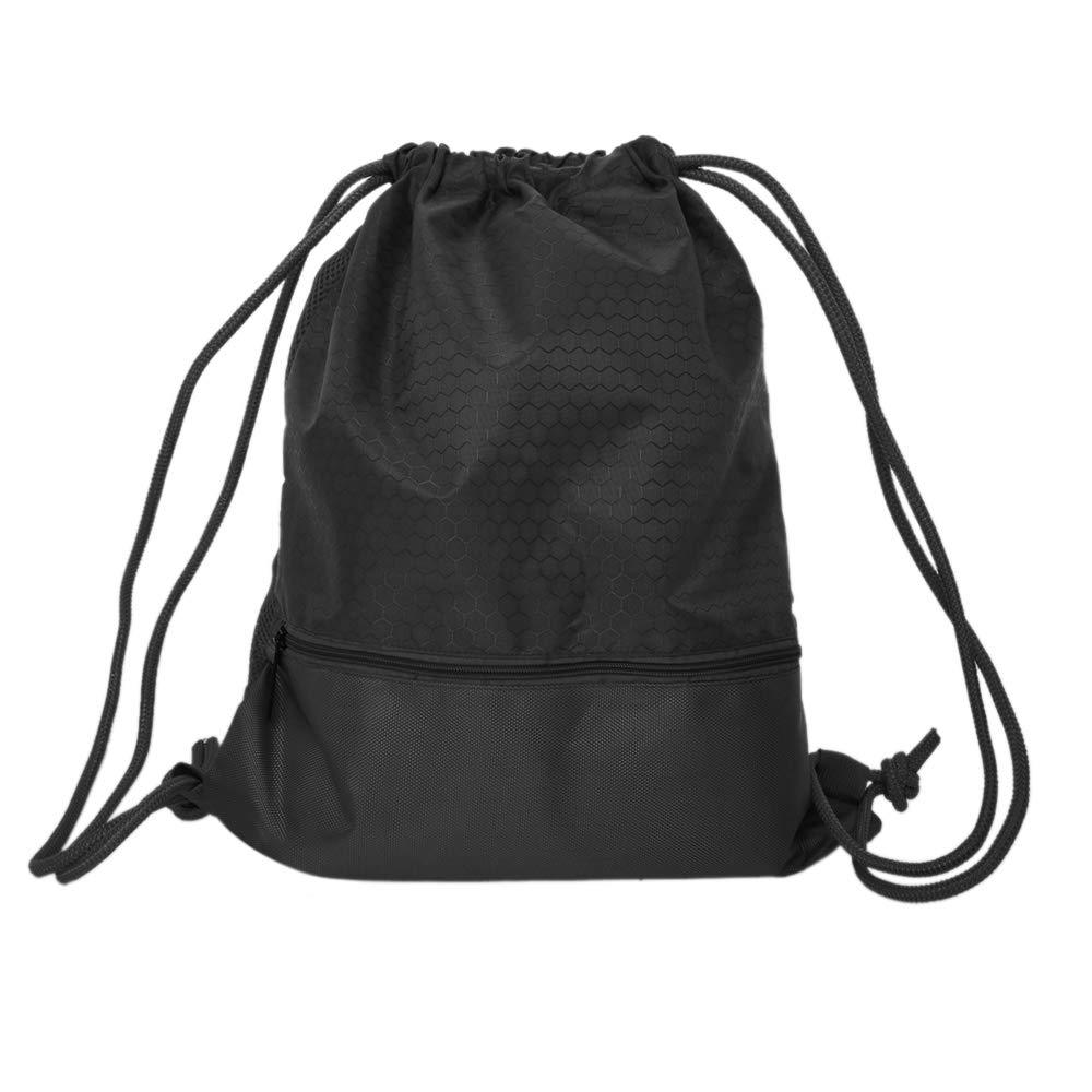 TOPTIE Drawstring Backpack Waterproof Gym String Bag Cinch Sack Gymsack Sackpack-Grey-M DRAH-AW72701_GREY-M