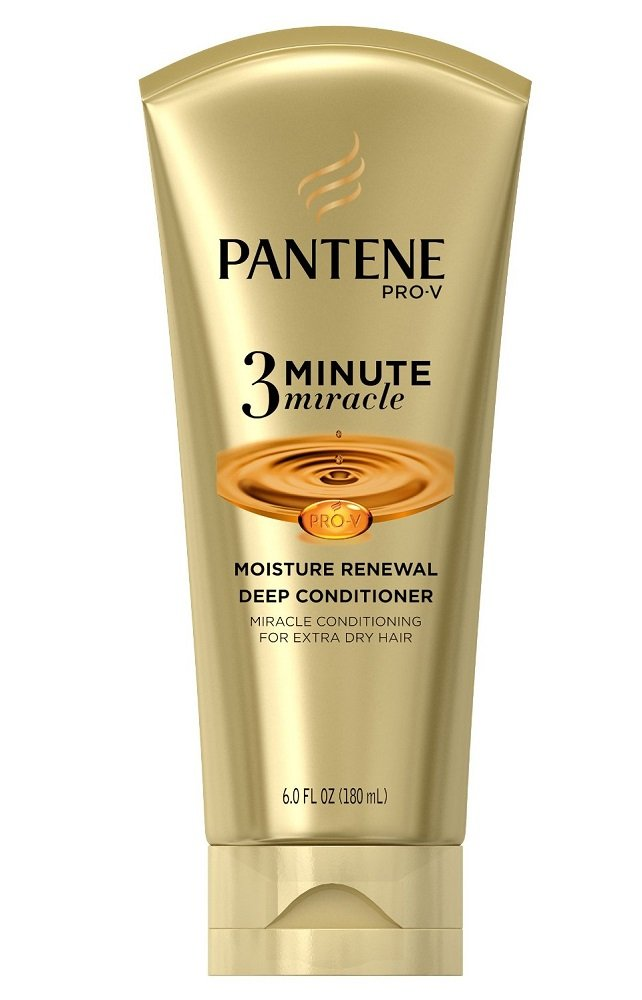 Pantene Pro-V 3 Minute Miracle Moisture Renewal Deep Conditioner, 6 Ounce (3-Pack)