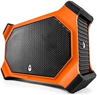ECOXGEAR EcoSlate GDI-EXSLT800 Rugged Waterproof Floating Portable Bluetooth 20 Watt Stereo Wireless Smart Speaker Orange