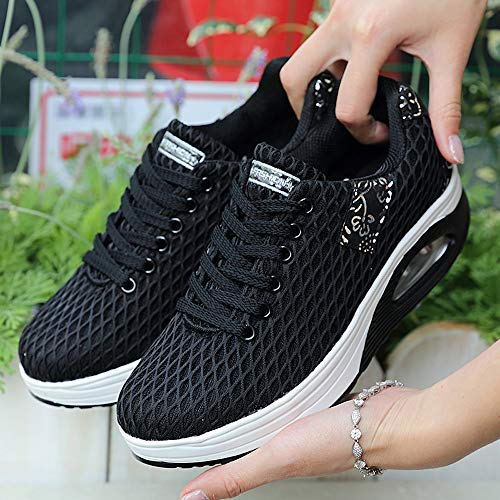Sneakers entraînement Trail Course Compétition Chaussures Chaussures GongzhuMM Basket Running Noir EU Randonnée 39 36 Outdoor Femme de de Sport wqxgvnf4B
