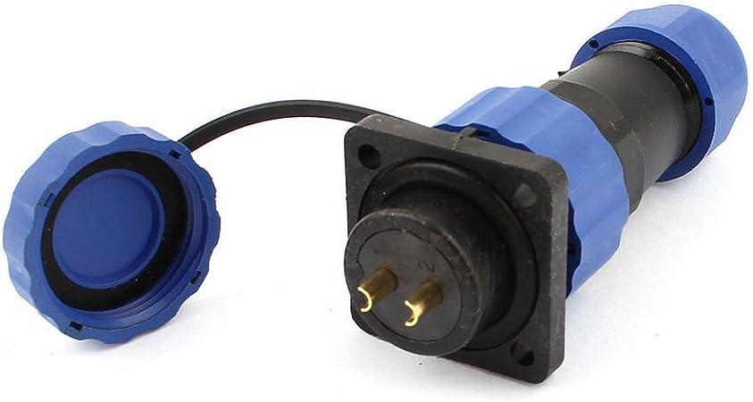 2-Pin SD16 Wasserdicht Luftfahrt Stecker Anschlusstecker Steckverbinder Buchse