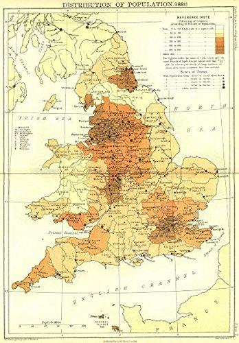 Amazoncom UK Population England Wales Black Old - Vintage maps uk