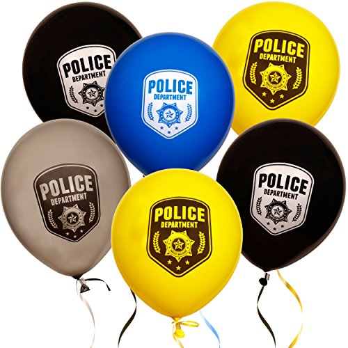 36 12 Police Department Balloons Kids Birthday Party Favor Supplies Decorations by Gift Boutique
