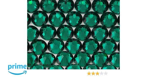 82e7b48b3ba6e Amazon.com: NEW ThreadNanny CZECH Quality 10gross (1440pcs) HotFix  Rhinestones Crystals 4mm/16ss Dark Green Emerald Color
