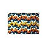 Mewisx Navajo Southwest Native American Geometric Print Doormat Non Slip Indoor/Outdoor Floor Mat 23.6''(L) x 15.7''(W)