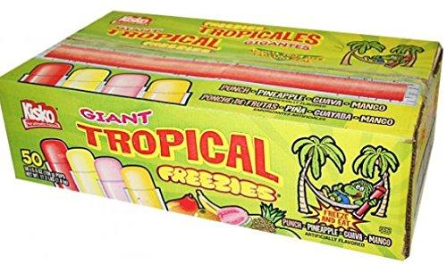 (Kisko Giant Tropical Freezies - Box of 50)