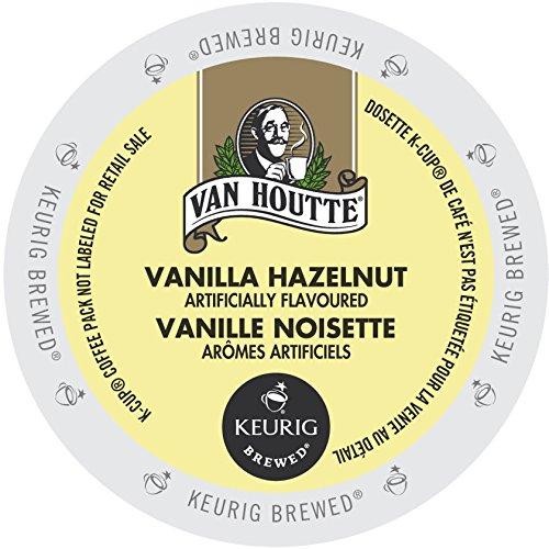 Van Houtte Cafe Vanilla Hazelnut DecafK-cup for Keurig Brewers,  24 Bank on