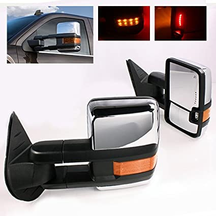 modifystreet power side towing mirrors with turn signal & heated defrost &  clearance light for 99