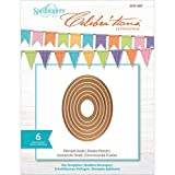 Spellbinders SCD-007 Celebrations Pierced Ovals Metal Paper Cutting Die Template, Set of 6