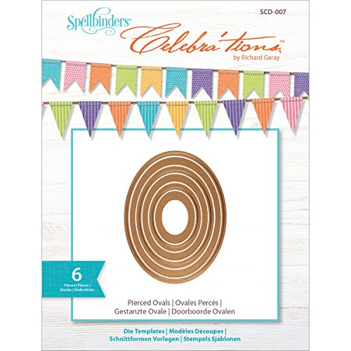 tions Metal Paper Cutting Die Template, Pierced Ovals (Set of 6)-SCD-007 ()