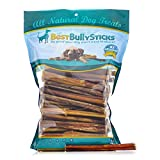Premium 6-inch Bully Sticks by Best Bully Sticks (50 Pack)- All-Natural Beef Sourced from Free-Range, Grass-Fed Cattle