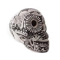 Cráneo pintado con Estampas de Vida