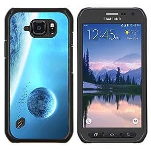 TECHCASE---Cubierta de la caja de protección para la piel dura ** Samsung Galaxy S6 Active G890A ** --Espacio Planet Galaxy Estrellas 7