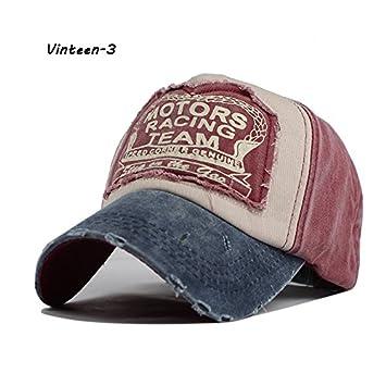 Vinteen Gorra de béisbol lavada de la moda de Europa y América ...