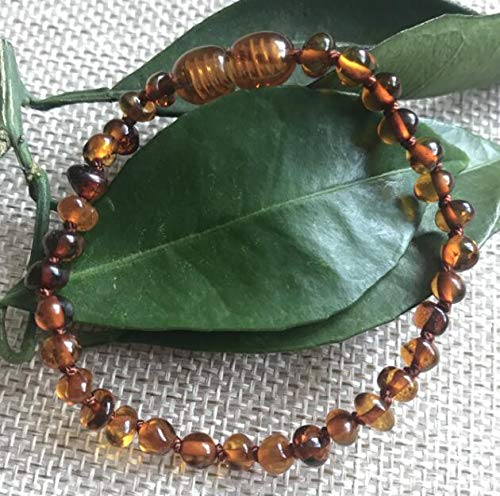 Natural Amber Necklaces, Bracelets, Anklet | for Gift | Small Beads Baby Teething Jewelry (4mm)