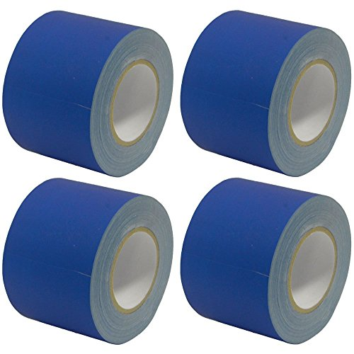 UPC 847861016852, Seismic Audio - SeismicTape-Blue604-4Pack - 4 Pack of 4 Inch Blue Gaffer's Tape - 60 yards per Roll