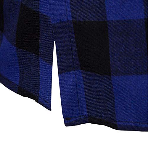 Maniche Cerniera Collo Hoodie Elegante Dolcevita Maglione Inverno Cappuccio L Lunghe Distintivo Sweatshirt Blu Con Qinsling Uomo Tops Felpa Cappotto Camicetta Classico x1xnI0Y