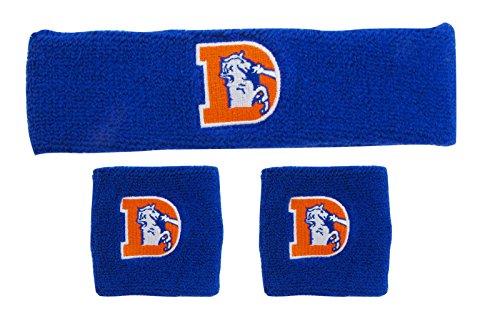 NFL Denver Broncos Wristbands & Headband Set, Navy, One Size