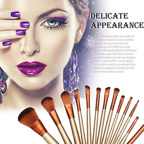 Dongtu 12PCS/Pack Makeup Brushes Premium Synthetic Foundation Powder Concealers Eye Shadows Cosmetics Eyeliner Eyeshadow Blending Brush Sets
