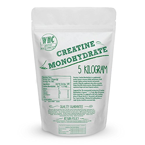 Micronized Creatine Monohydrate Powder 5kg (1665 Servings) | Workout Enhancer | Builds Lean Muscle | Increase Mental And Physical Energy | Reduces Fatigue