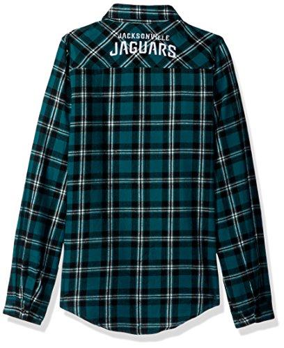 Forever Collectibles Damen 2016Wordmark Basic Flannel, Jacksonville Jaguars, klein