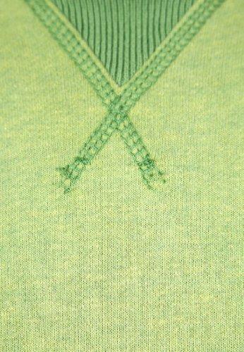 Duck and CoverHerren Pullover, Einfarbig Grün Fern