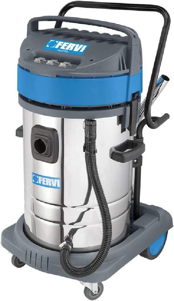 aspirador Aspiradora aspiraliquidi Profesional para uso Industrial 80 LT monofásico 3 motores Completo de accesorios fervi A040/803: Amazon.es: Hogar