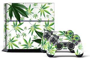 Juego de skins para PS4 y dos mandos, diseño de Weeds Blanco [PlayStation 4]
