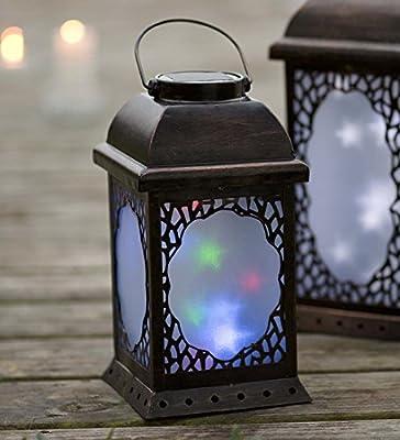 Small Twirling Moravian Star Solar Lantern