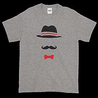 Gharzat Grey Round Neck T-Shirt For Men