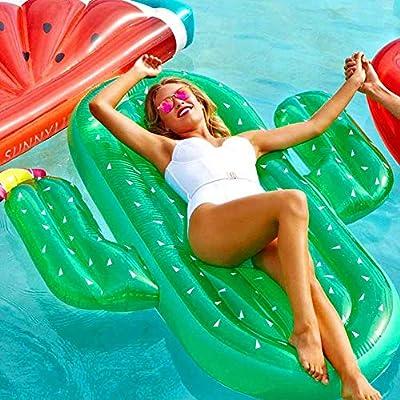WWWFZS Colchoneta Hinchable Piscina Flotador Inflable,Hamaca De Agua Portátil para Balsas De Piscina Sin Fuga Hinchables Juguete para Adultos Niños De Agua Fiesta Playa Lago Natación: Amazon.es: Deportes y aire libre