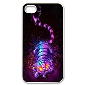 Chaap And High Quality Phone Case For Iphone 4 4S case cover -We All Mad Here - Cheshire Cat-LiShuangD Store Case 4