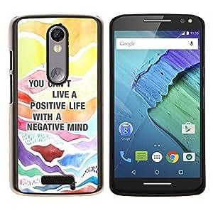 EJOOY---Cubierta de la caja de protección para la piel dura ** Motorola Moto X3 3rd Generation ** --Cita positiva Consejos texto