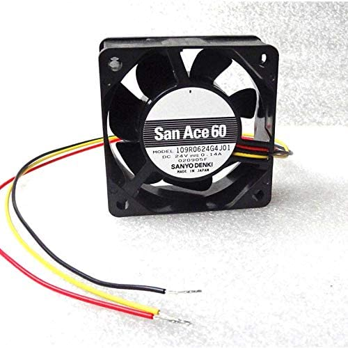 Cooler Fan for Sanyo Denki 60mm x 25mm Fan 24V DC 3 Wire Bare Leads 109R0624G4J01 Made in Japan