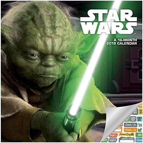 Star Wars Calendar 2019 Set - Deluxe 2019 Star Wars Mini Calendar with Over 100 Calendar Stickers (Star Wars Gifts, Office Supplies)