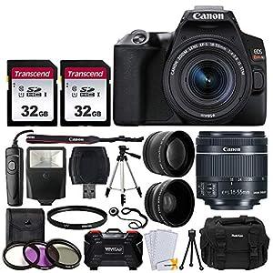 Canon EOS Rebel SL3 Digital SLR Camera (Black) + EF-S 18-55mm f/4-5.6 IS STM Lens + 58mm 2X Professional Telephoto…