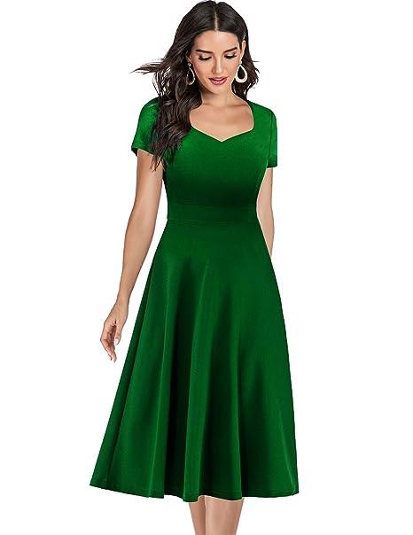 Amazon.com: Bridesmay Vestido de fiesta de cóctel con cuello ...