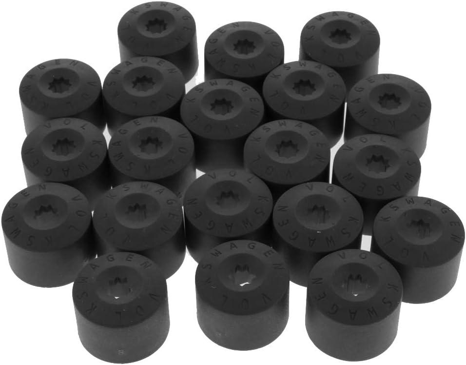 H HILABEE 20tlg 19mm Radmutter Kappen Radschraubenkappen Radmutterschutz Bolzen Abdeckkappen mit Entfernung Werkzeug 24,2 x 23,6 mm