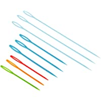 Aspiredeal 9 Pieces Plastic Sewing Needles for DIY Wool Cross Stitch Knitting Crochet Craft