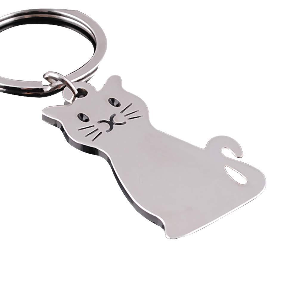 Aofocy Chaî ne principale de chat en mé tal personnalisé , anneau