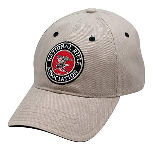 NRA Applique Logo Khaki Cap - Officially Licensed