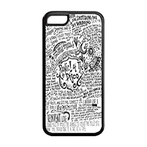 Panic At The Disco Durable TPU Protective Case For Apple iphone 5c (Black, White)